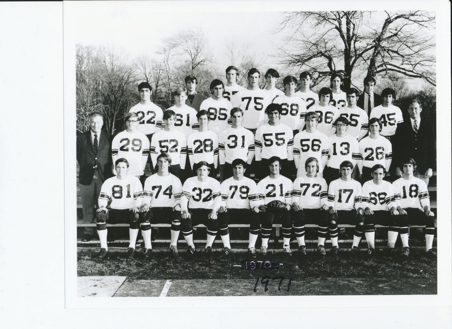 First Row: Fisher, N. Wood, Weeks, Joyal, Fox, Harrison, Hogan, St. Clair, Pettit, Second Row: Mr. Croke, Moore, Mazzone, Holton, Bankart, Dorian, Kittredge, Henes, Widing, Mr. MacKenzieThird Row;Ashjian, Ellis, Lane, Magnuson, T. Wood, Todd, Johnson, BlancoFourth Row: Hintlian, Robertson, O'Connell, Ashton, Wheaton, Amsbary