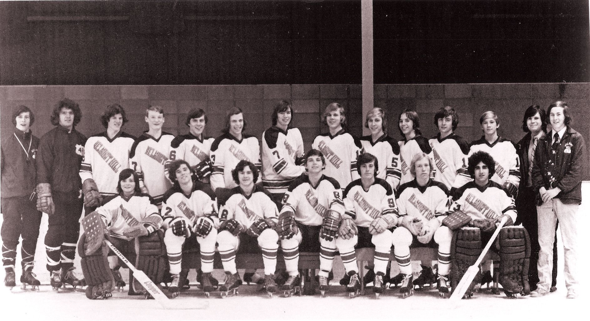 First Row: Freeman, Harvey, Finnerty, Lyons, Weeks, Dunphy, Wald Second Row; Mr. Martin, Mr. Clift, P. Kermond, Farrell, Milley, Mannix, D., Kelley, St. Leahy, Wiesentaner, M. Kelley, Collins, Casner, Ginn, Eaton