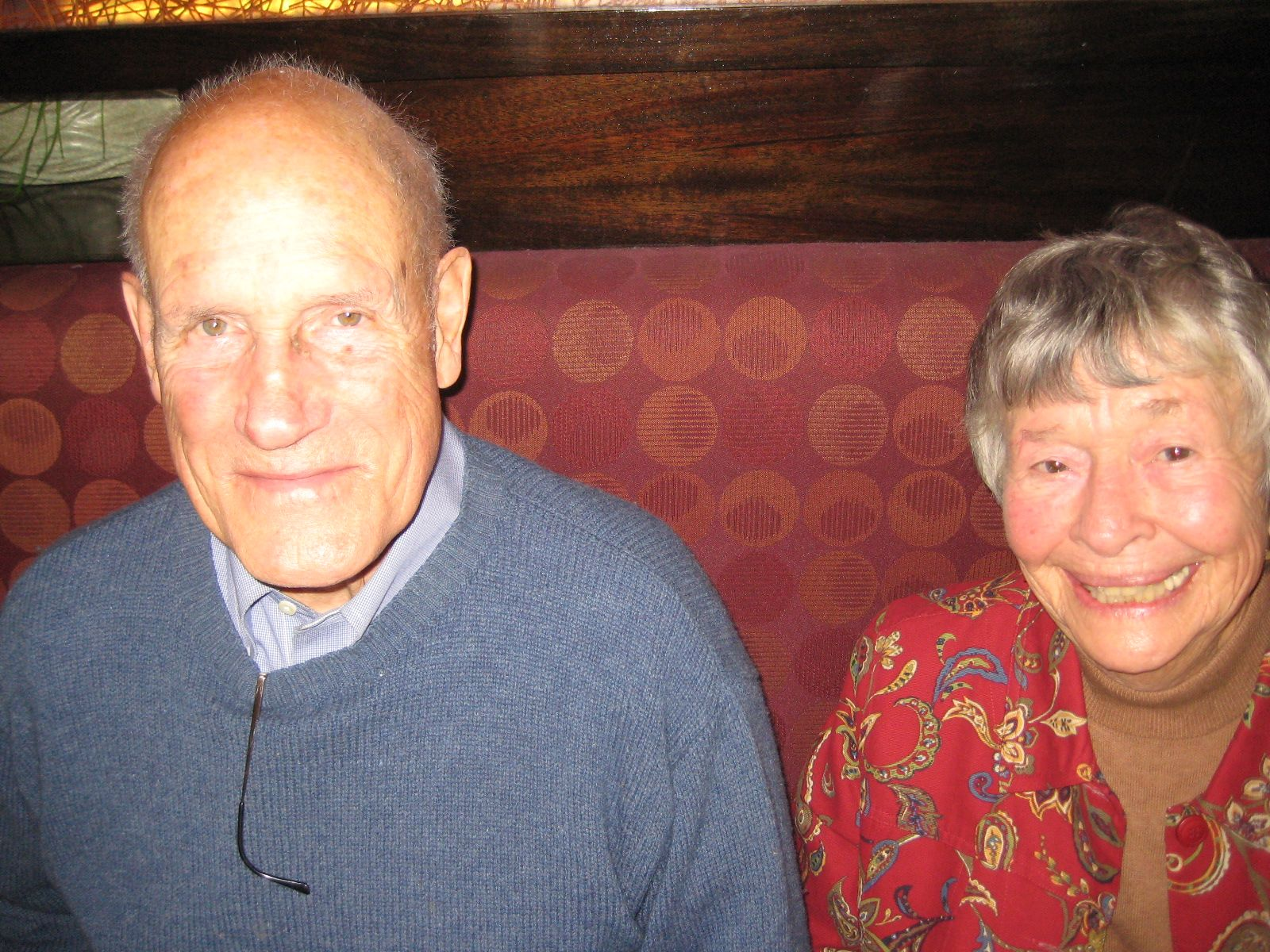 Jeanne and Fez Morse '40 met for lunch on November 12, 2012 in Lincoln, MA with members of Alumni House.