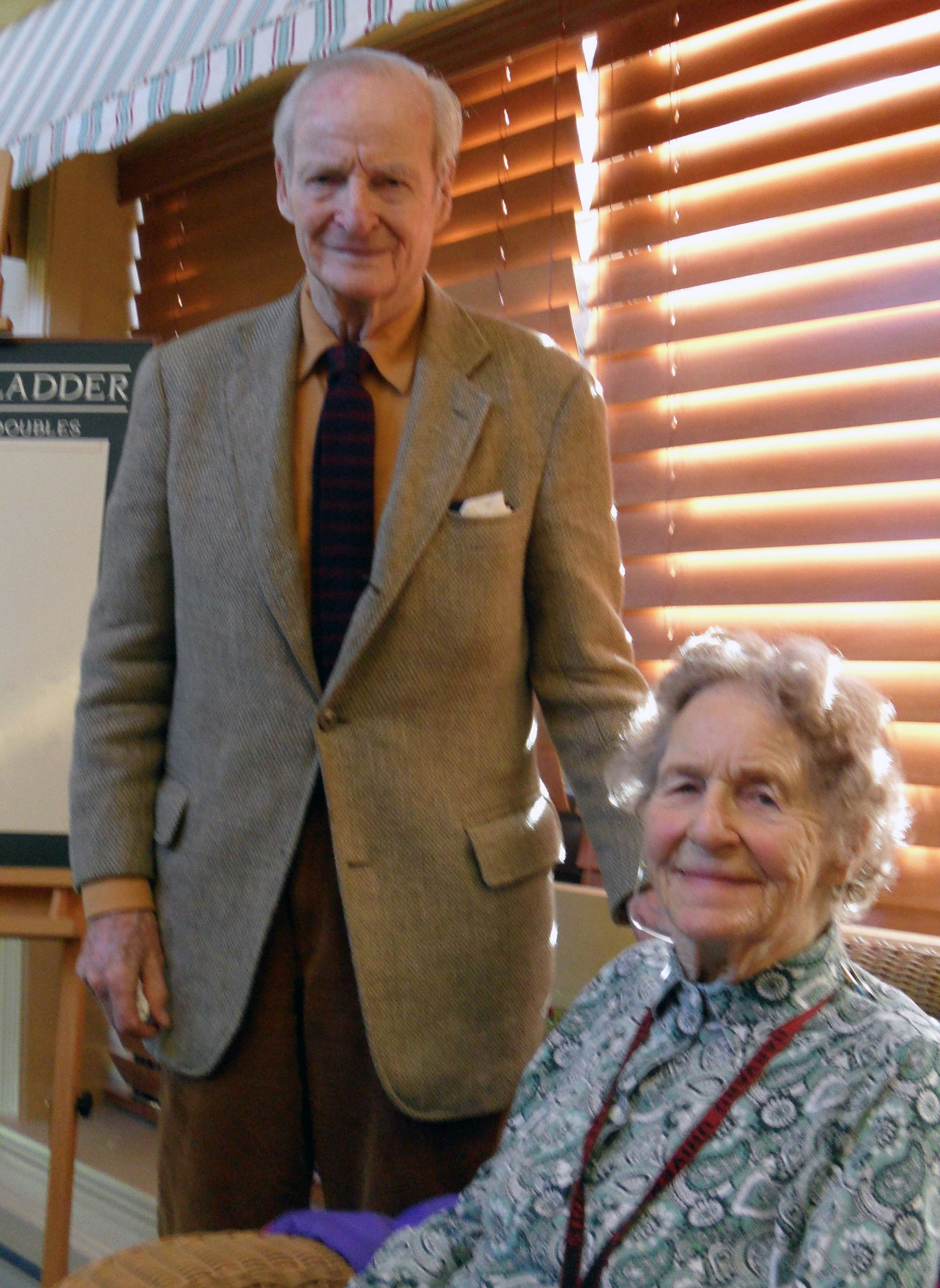 Marjorie and Ned Thomas '37 on December 19, 2012 in Bedford, MA.