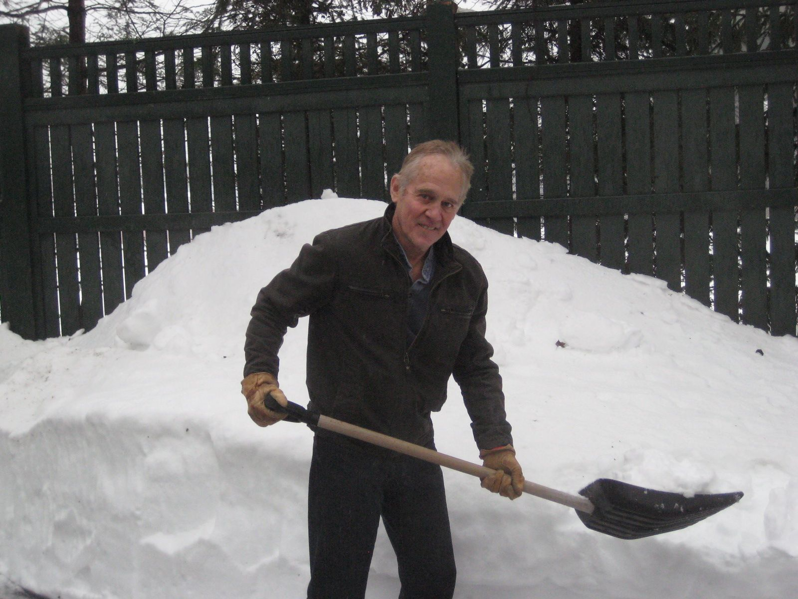 A visit with Reg Howe '58 at his home in Belmont after the Blizzard of 2013.