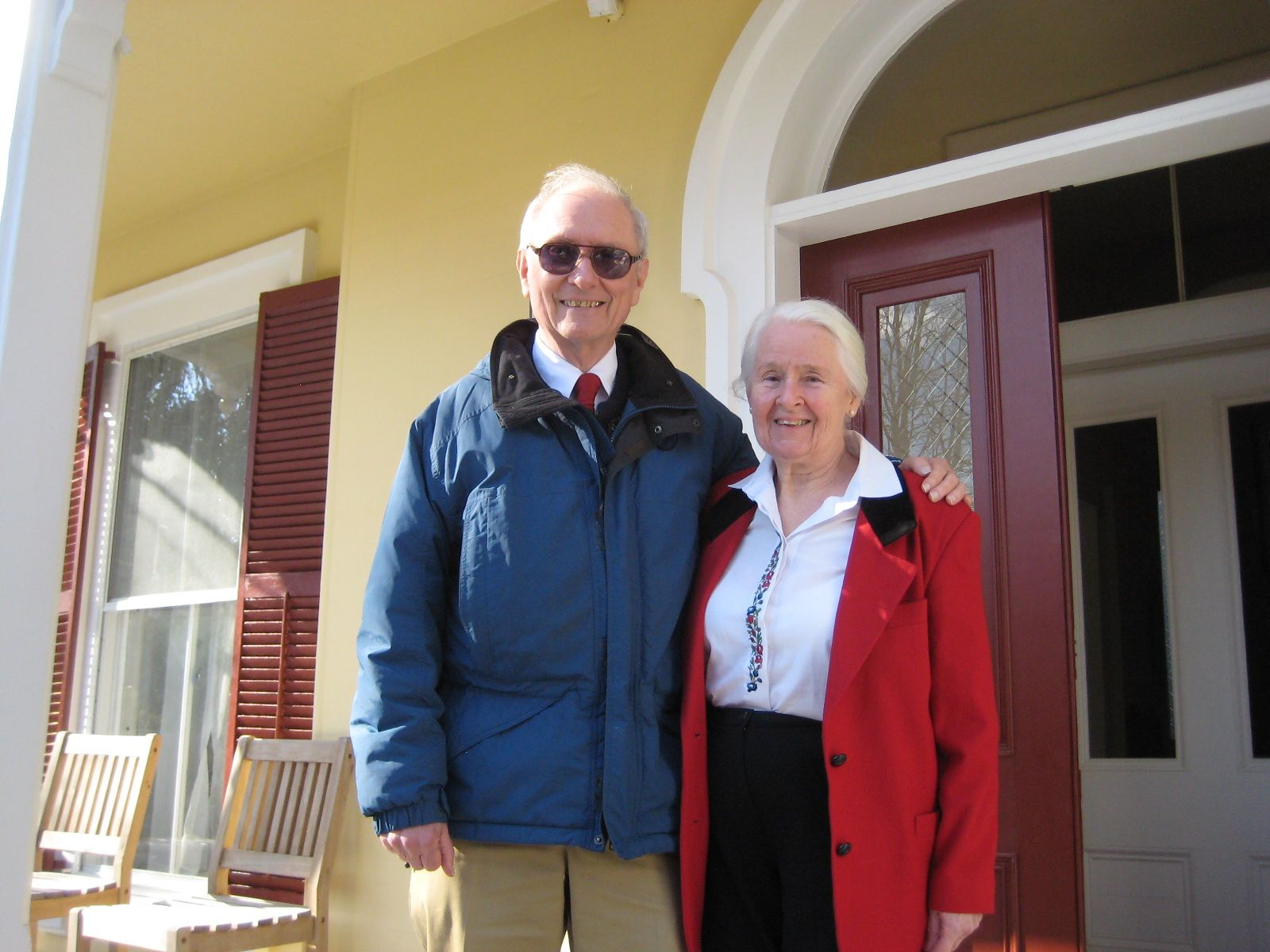 Lunch with Eugenie and Jon Shaw '55 in Sandwich February 12, 2013.