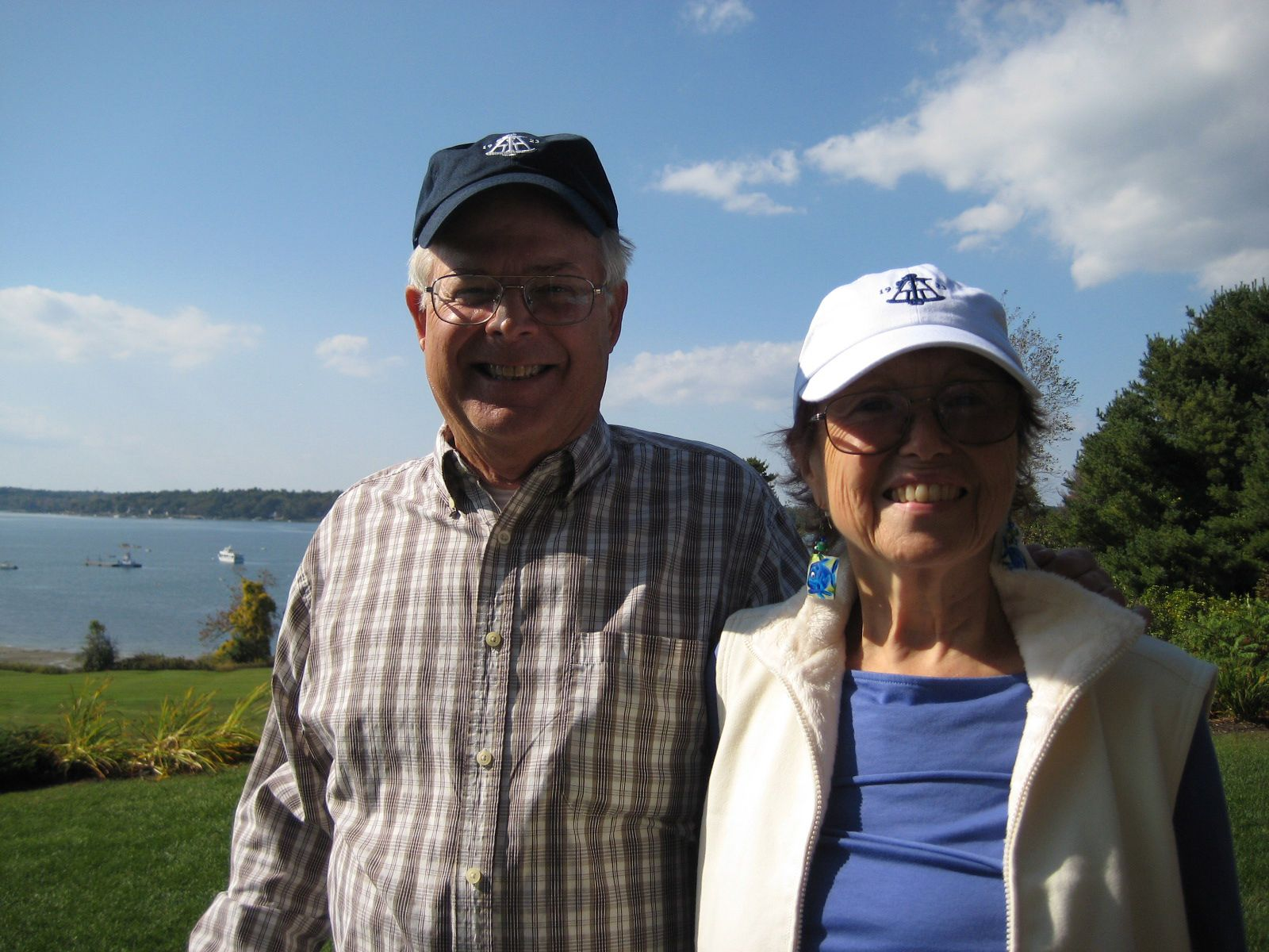 Nick Wessell '60 and Gwendolyn on October 2, 2013 in Chebeague Island, Maine.