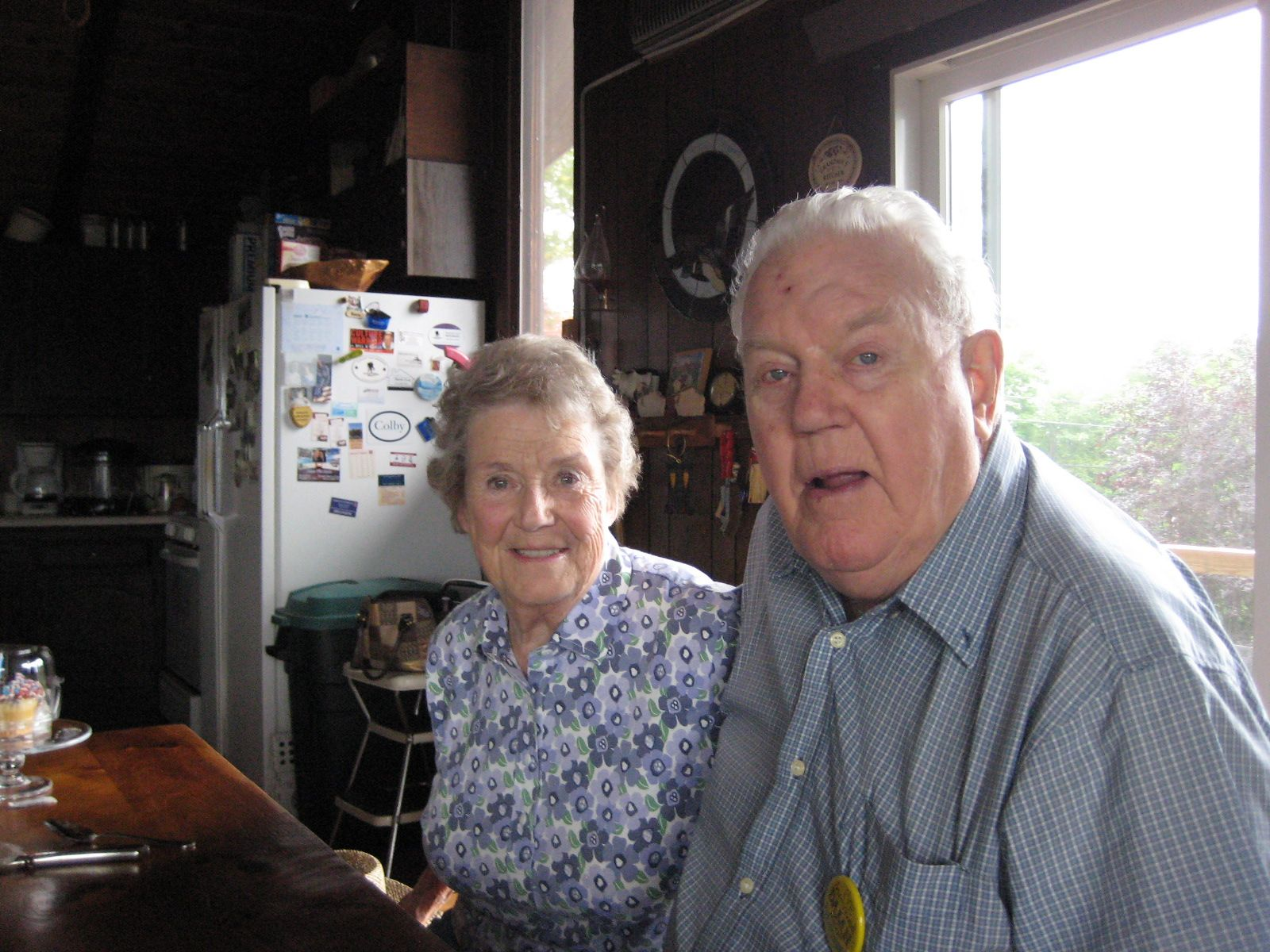 Ellen and Bill Gellotte '45 in their home in Guilford, NH.