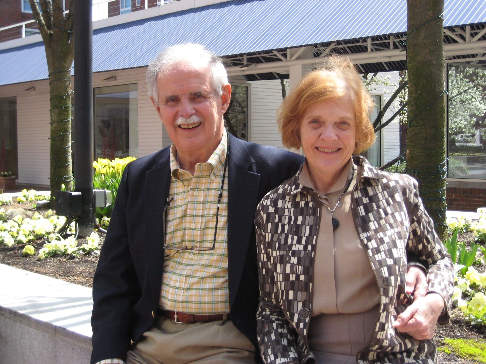 Susan and George Vrotsos '52 in Cambridge, MA on April 23.