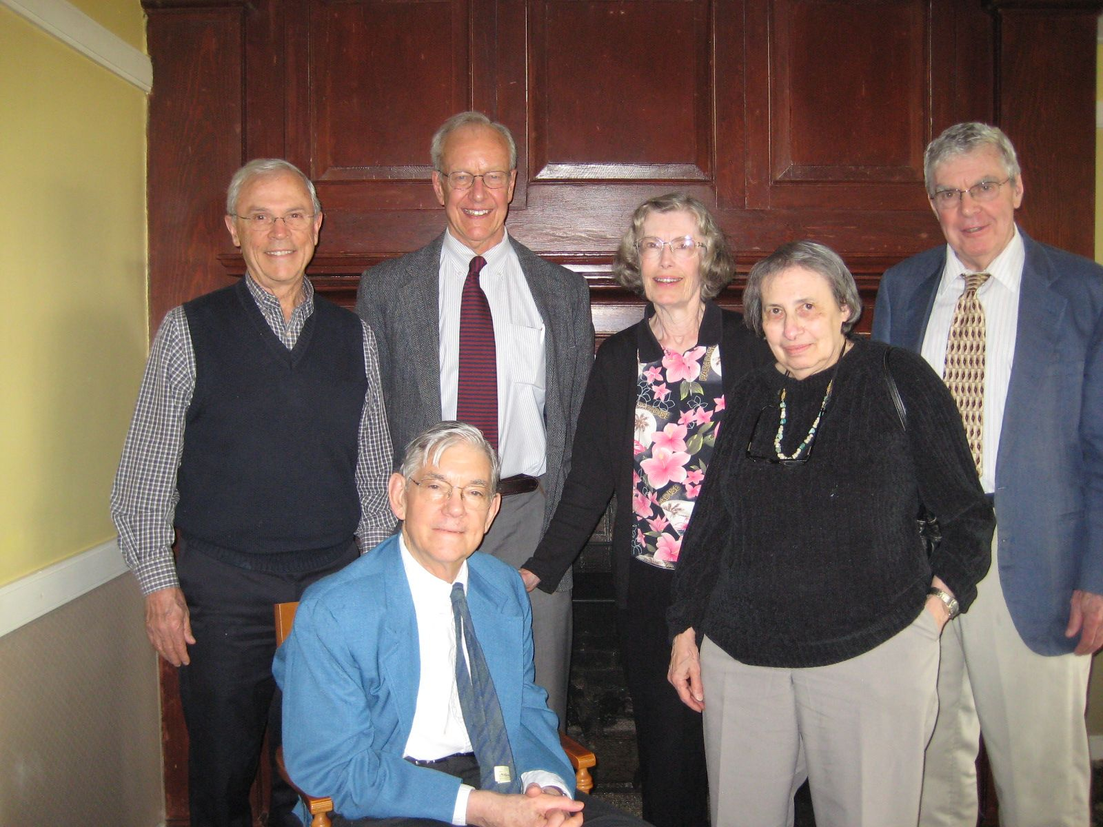 Members of the Alumni House had lunch in Portland, Maine with a few members of the Class of 1955 and their wives: Seated: John Hurd, Standing: Sam Parkhill, Jeff Eaton, Barbara MacMahon, Judi Hurd and Hugh MacMahon.