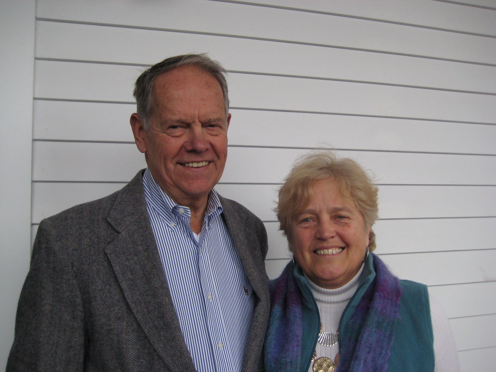Penny and Reg Elwell '58 at the New Brunswick Inn in Brunswick, Maine on April 3, 2013.