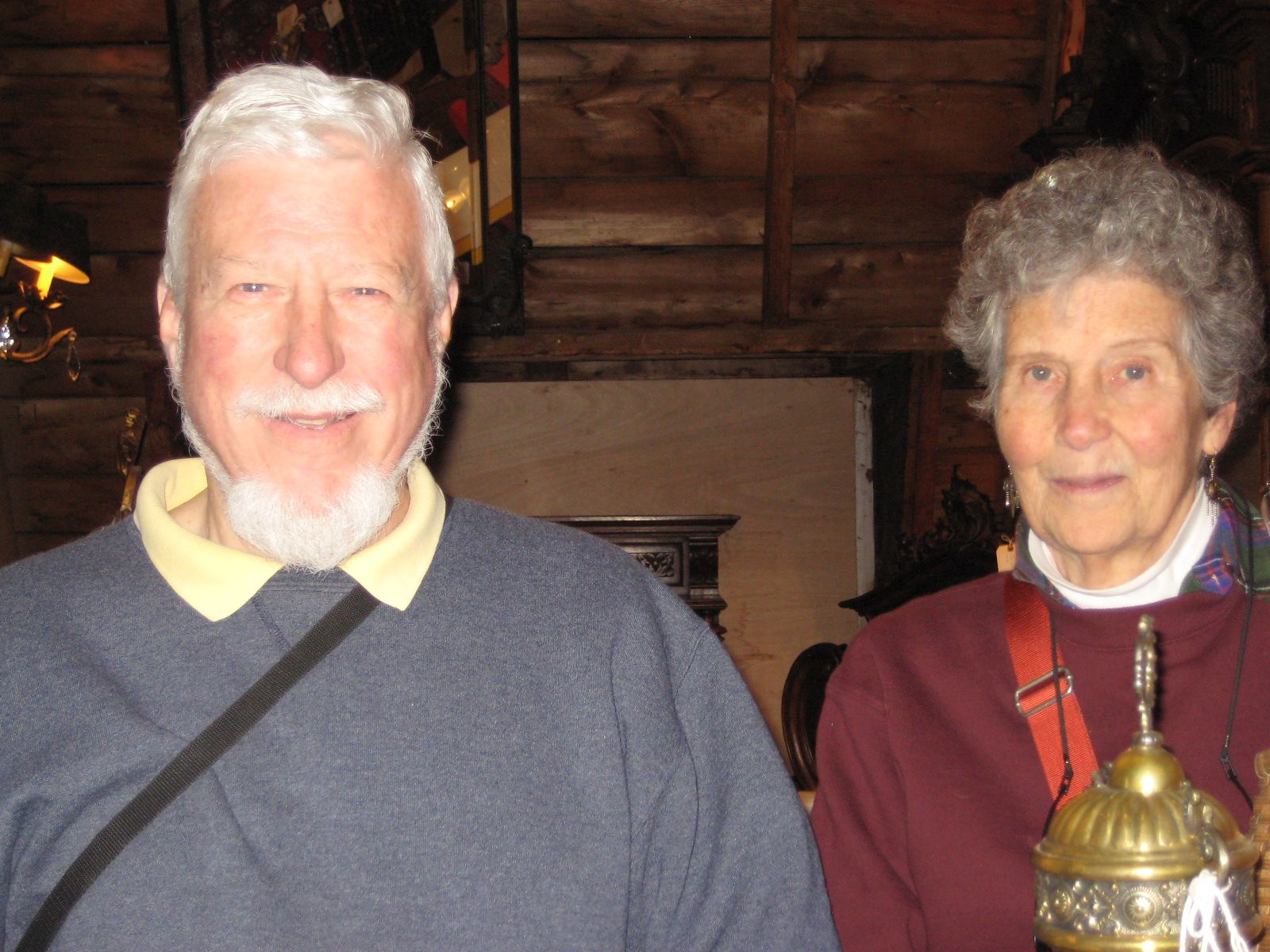 Anne and Chris Wadsworth in New London, NH in April 2013.