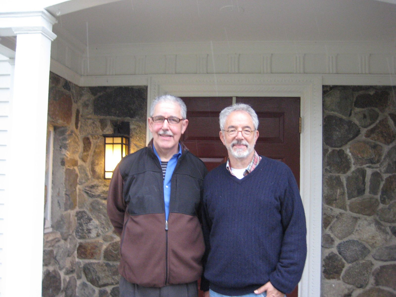 Buddy Karelis '63 and his brother Bill '65 visited the Alumni House in April 2013.