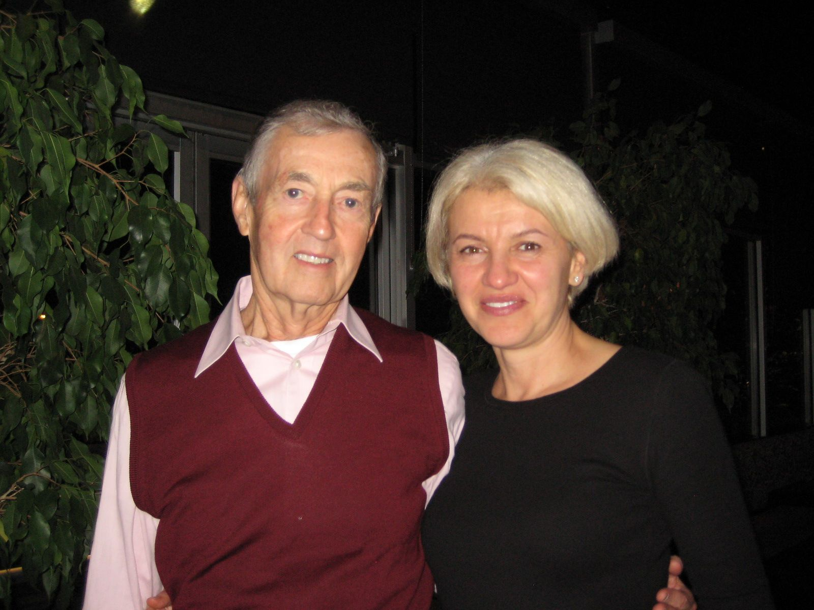 Iryna and John Simon '57 in Spartenburg, SC - October 22nd, 2013