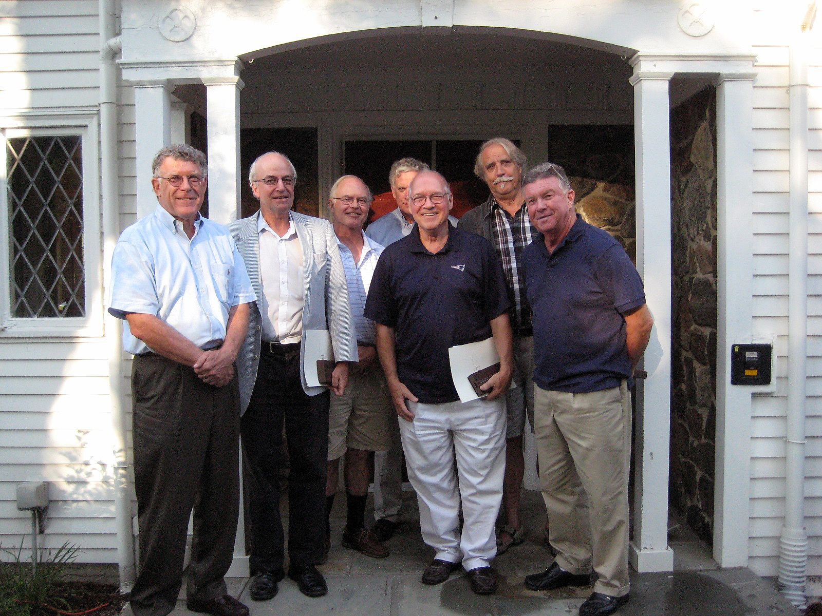 Alumni from the Class of 1964. (L-R) Frank Brown, Jeff Palmer, Charlie Whipple, Paul O'Conor, Mike Croke, Jack Denny-Brown, Kent Parrot