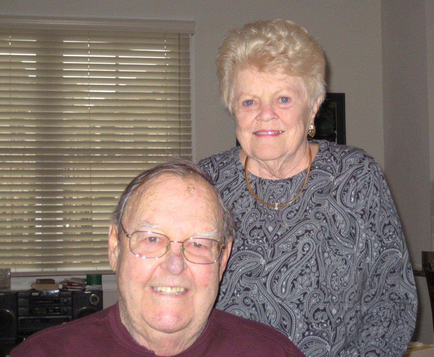 Jean and Joe Tellier '53 in Belmont, January 2014