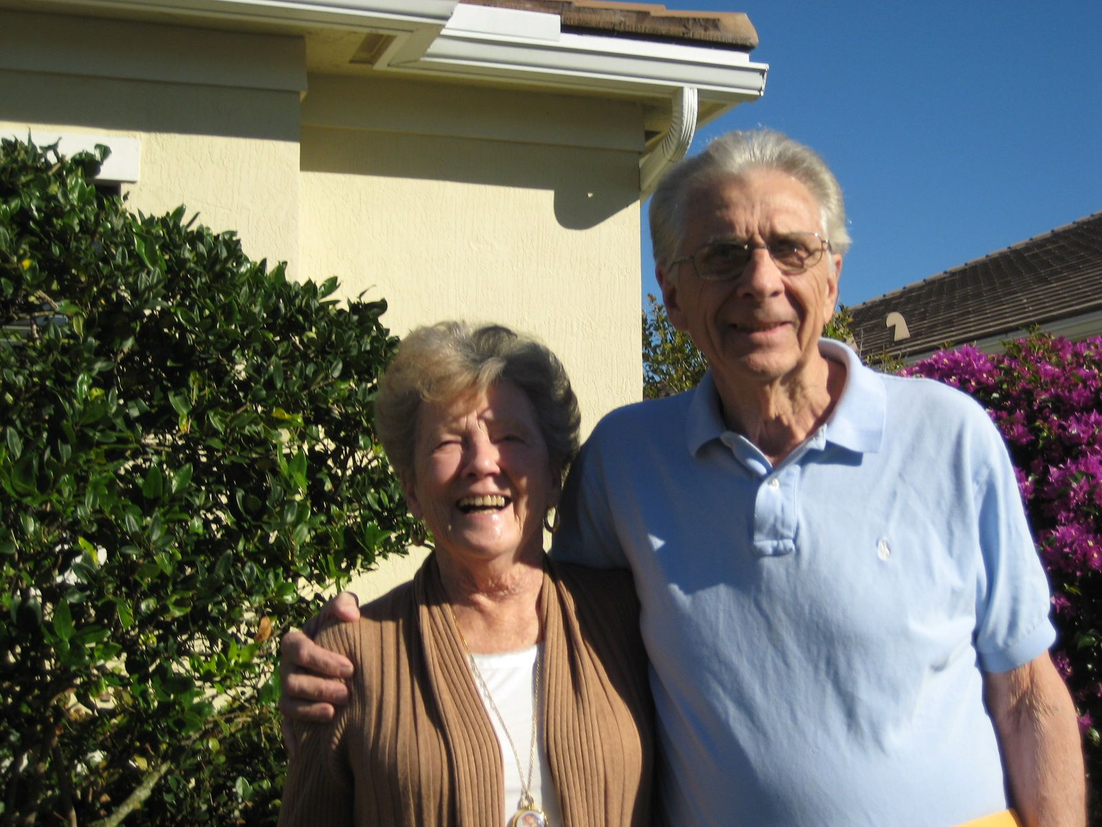 Barbara and Tom Dwyer  '51 in Boynton Beach, FL in January 2014