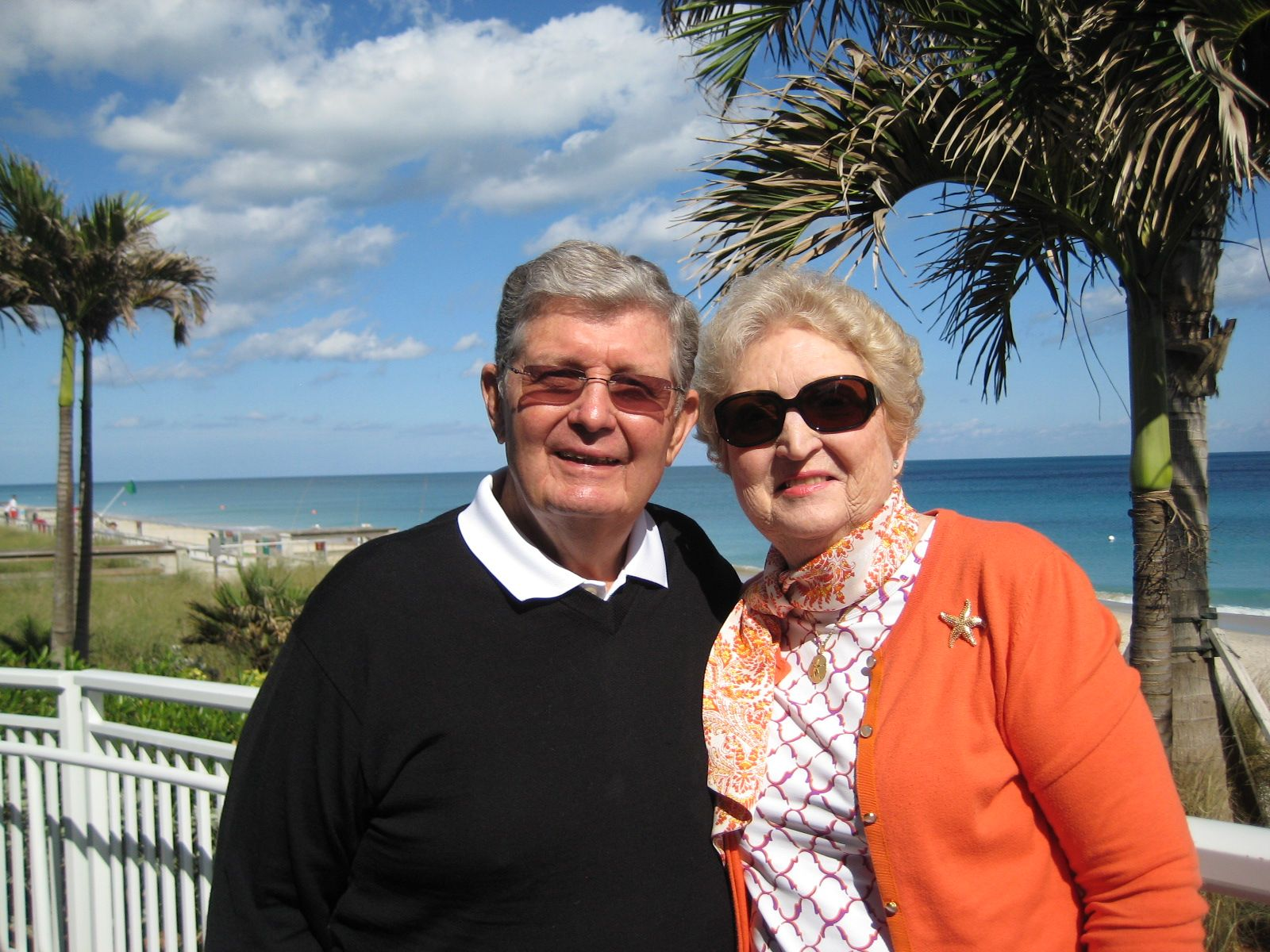 Carol Mullin and Tim Sturtevant '52 in Vero Beach, FL in January 2014