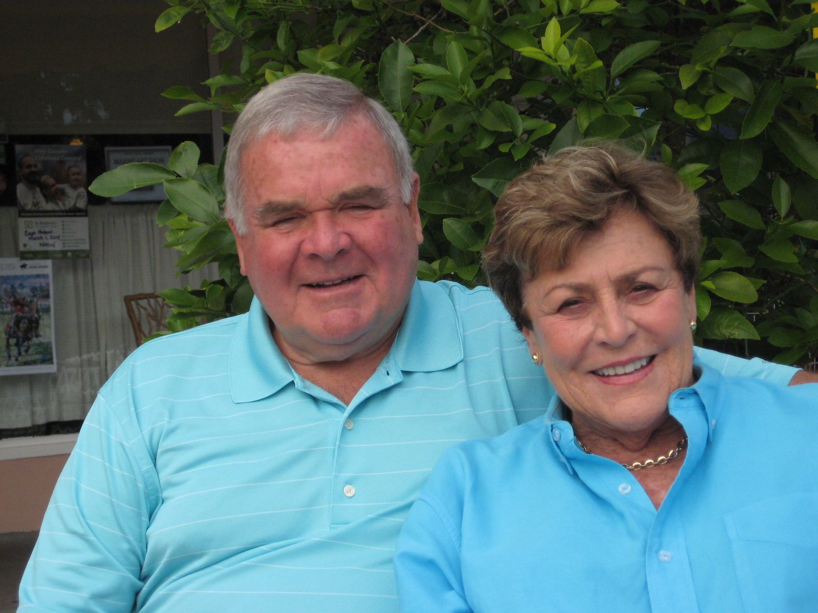 Pam and Dave Perry '52 in Vero Beach, FL in January, 2014