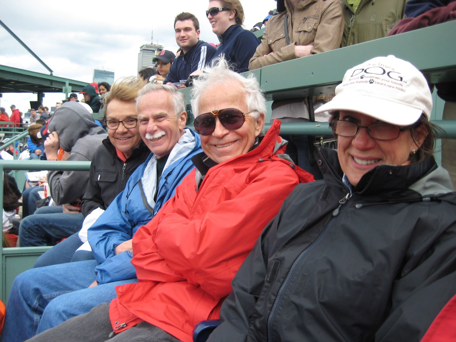 Don Robinson '62 and Skip Robinson '60 at the Red Sox game during Reunion Weekend 2014.