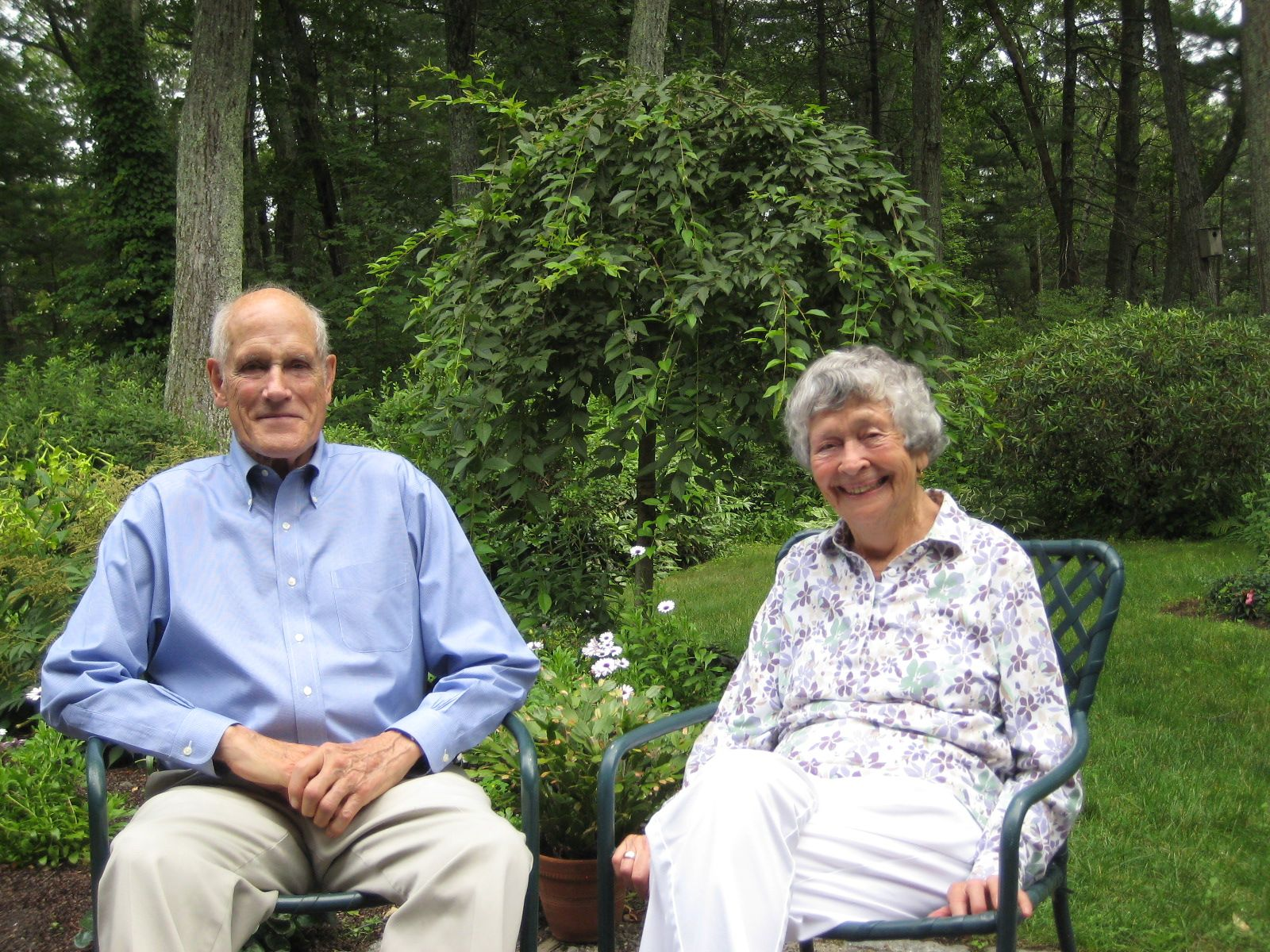 Fez and Jeanne Morse  on July 14, 2014 at their home in Lincoln, MA.