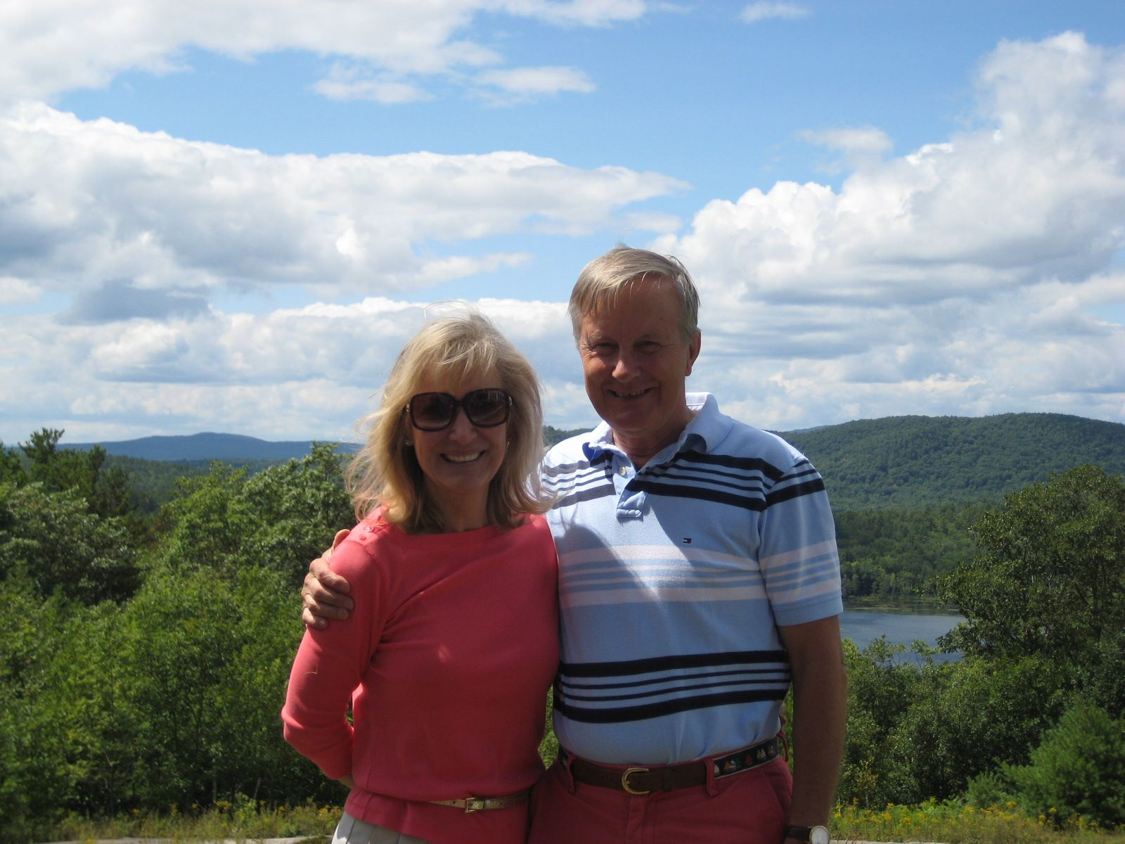 Christie and John Brooks '60 in Sunapee, NH on August 14, 2014.