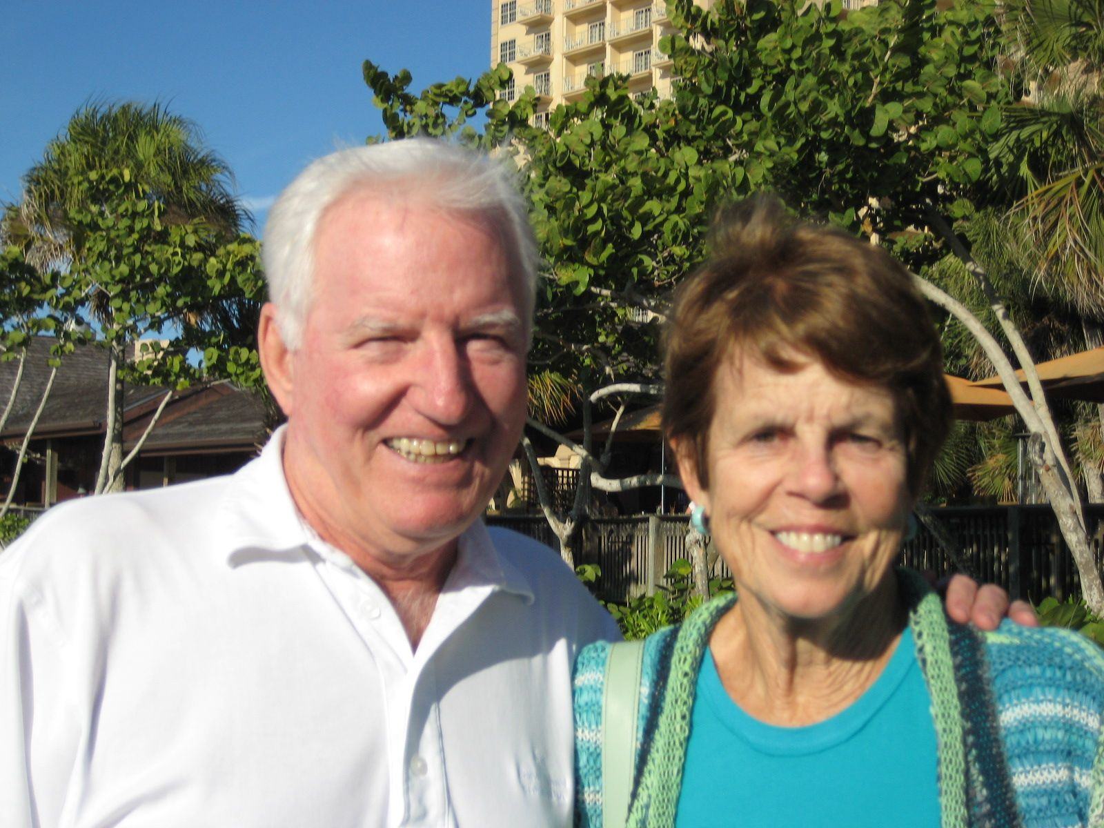 Jane and Bill Hogan '59 in Naples, FL on November 12, 2014.