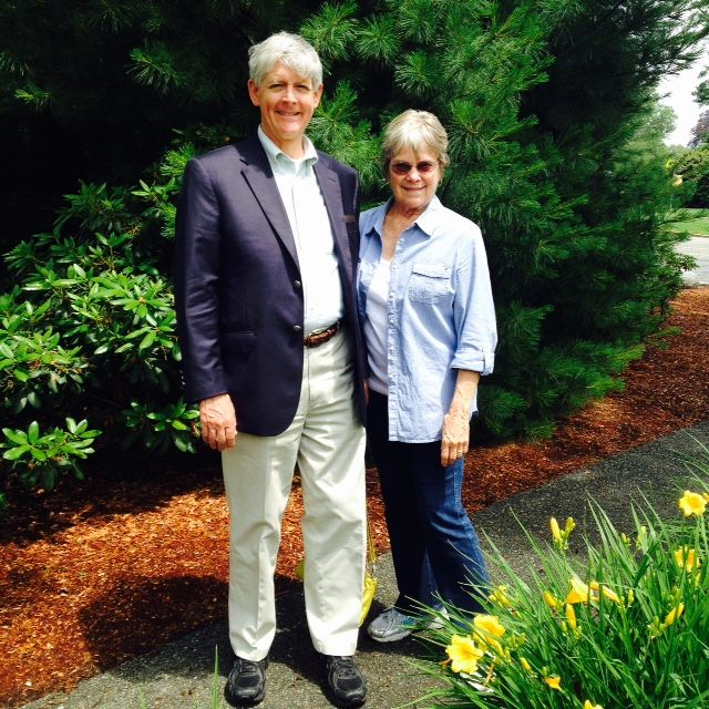 Ellen and Jonathan Lovell '63 visiting from San Jose, CA on June 23, 2015.