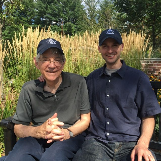 John Hurd '55 and his son Nathaniel visit Belmont Hill in August 2015