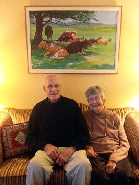 Jeanne and Fez Morse '40, October 2015 in Lincoln, MA.