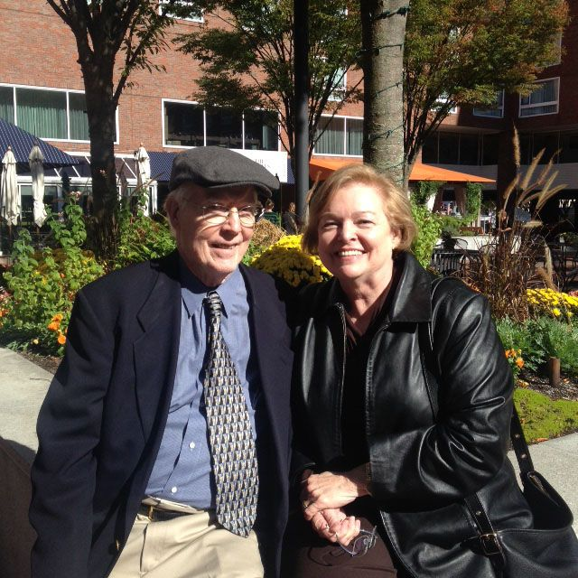 Pamela and Ted Eyrick '57 visit from Texas in October 2015