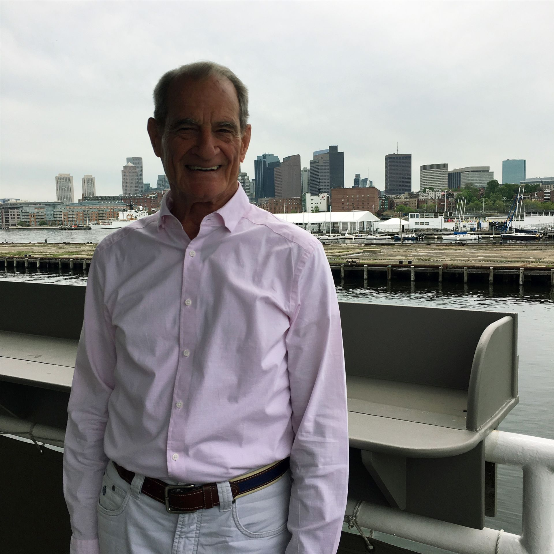 Eric Bradlee '62 in Charlestown Navy Yard, May 2018.
