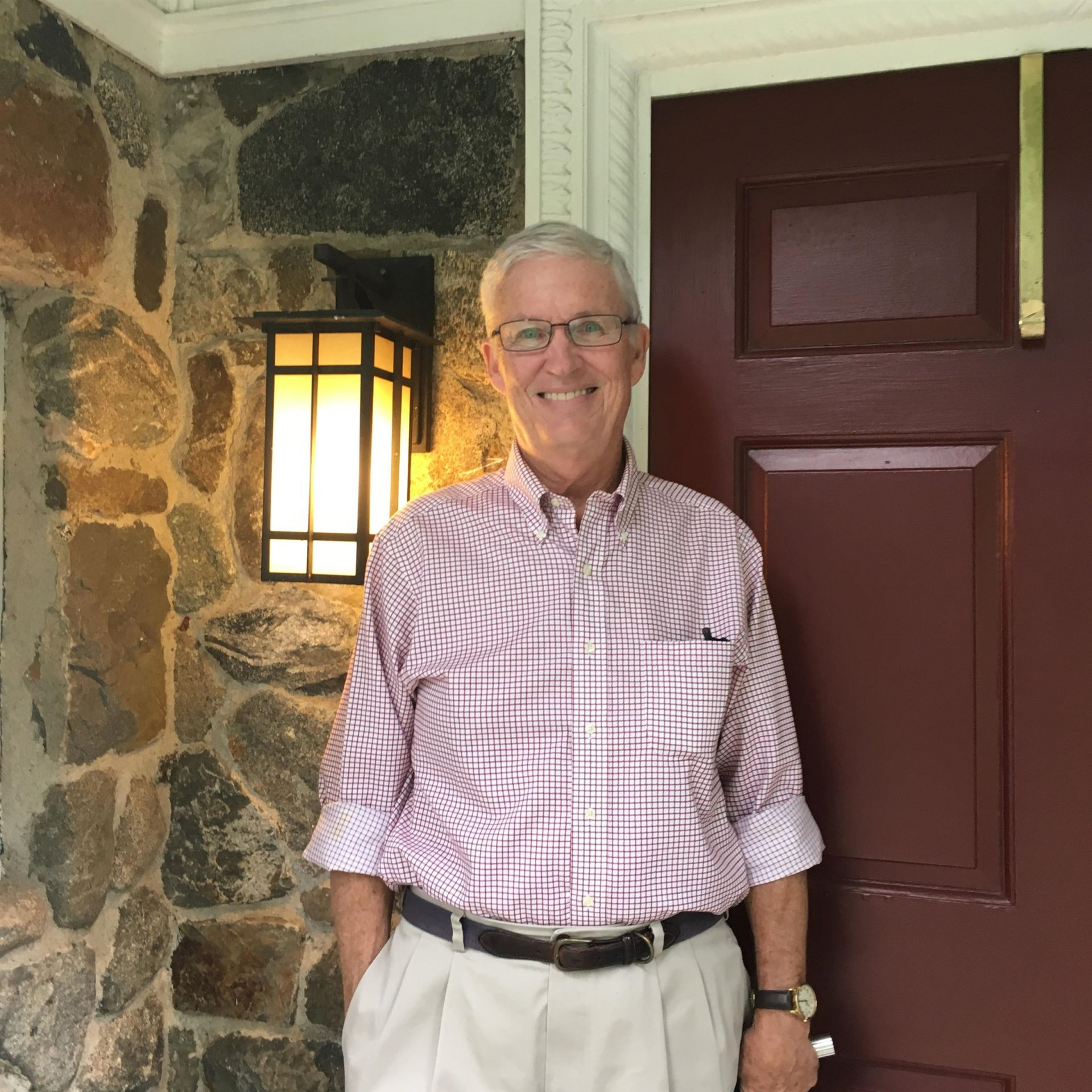 Bill Cornish '68 visits Alumni House on September 20, 2018.