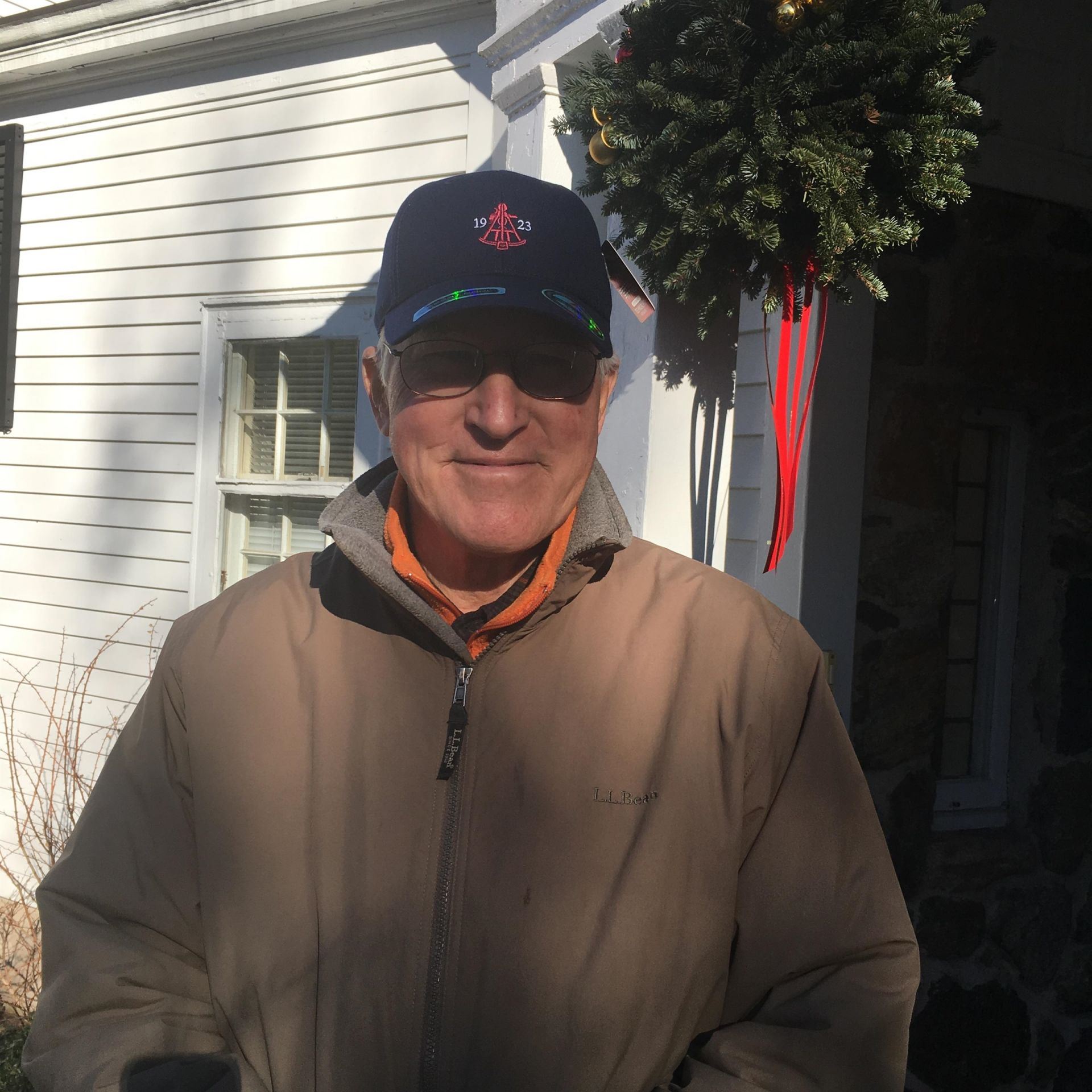 Will Mack '57 visit to Alumni House, December 2018