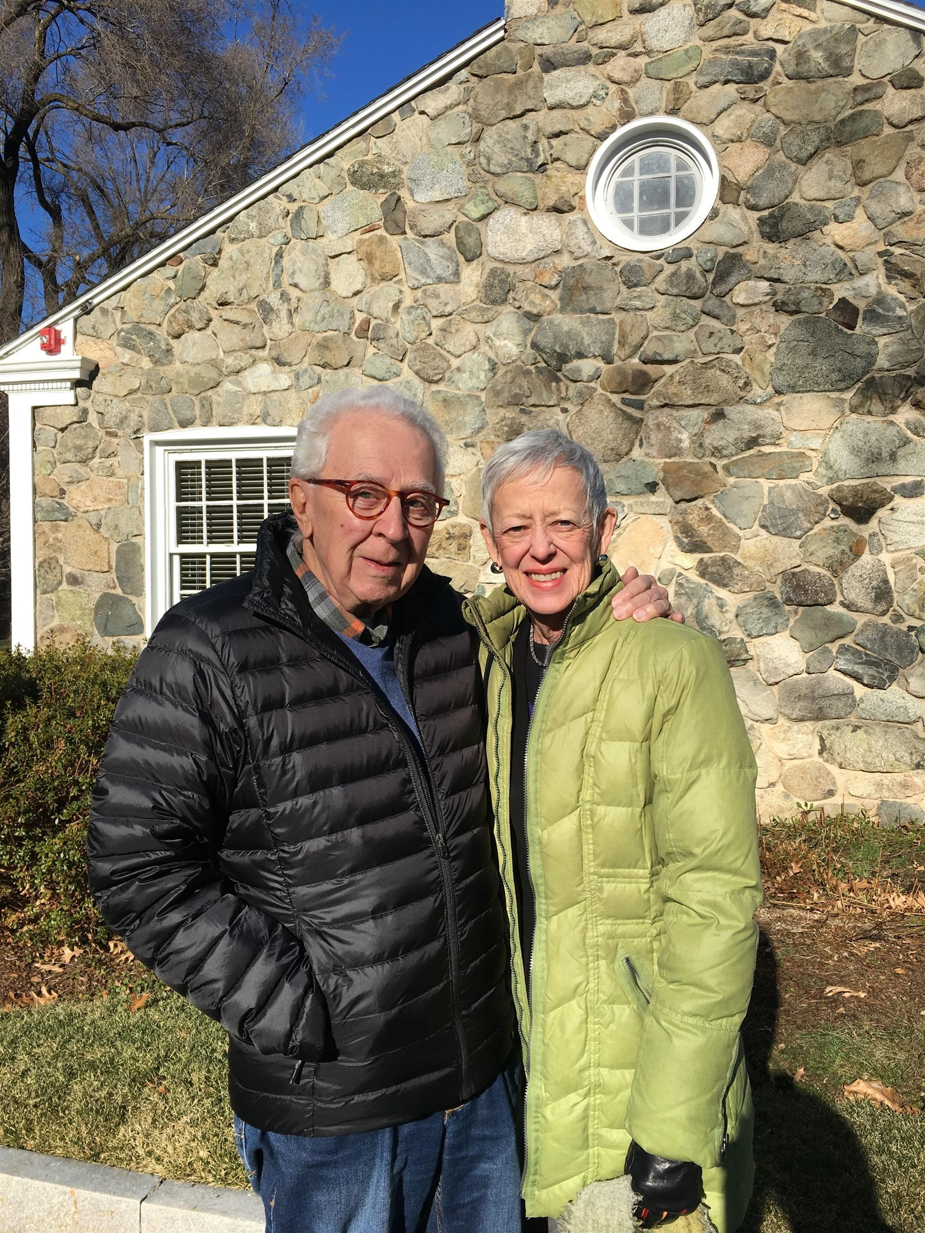 Paul Repetto '54 and his wife, Jan, visiting from Boulder, CO in December 2018.