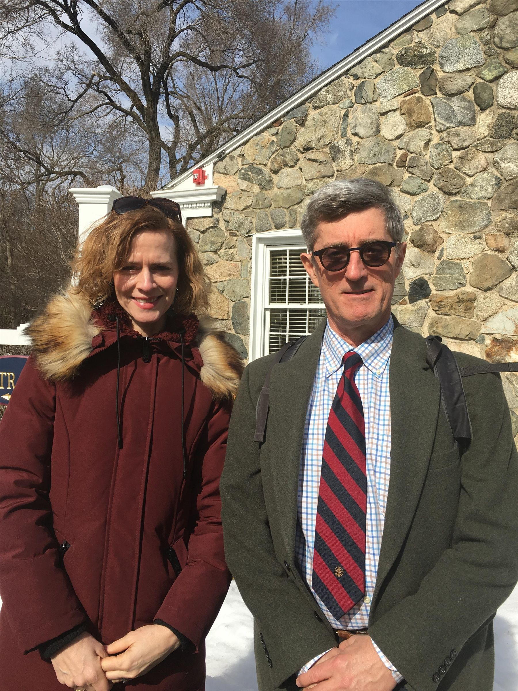 Len Edgerly '68  visit in February 2019 to Belmont Hill to teach a class on podcasts with Jeanne Tift.