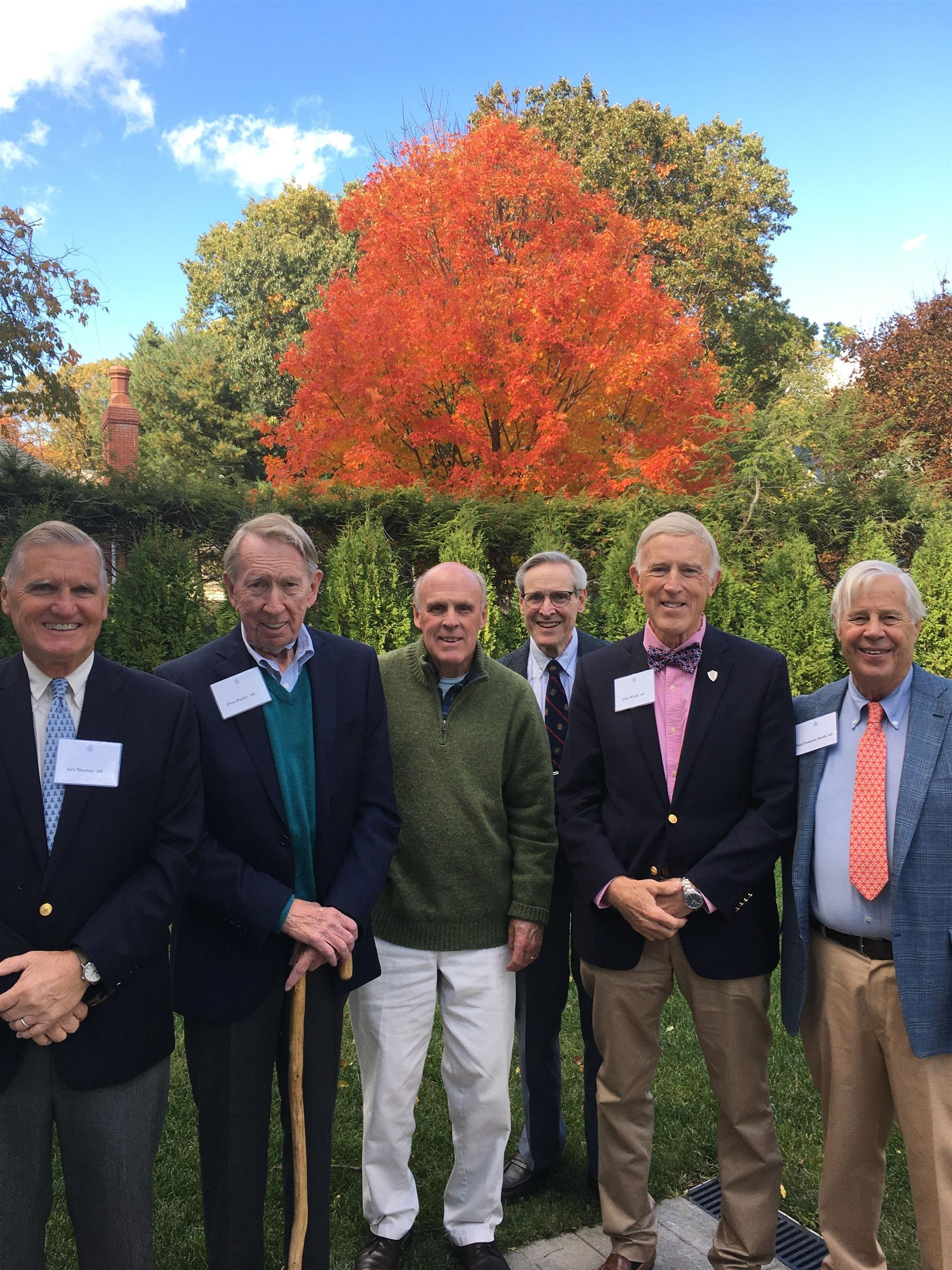 Class of 1960 Reunion Planning Lunch at Alumni House in October 2019.