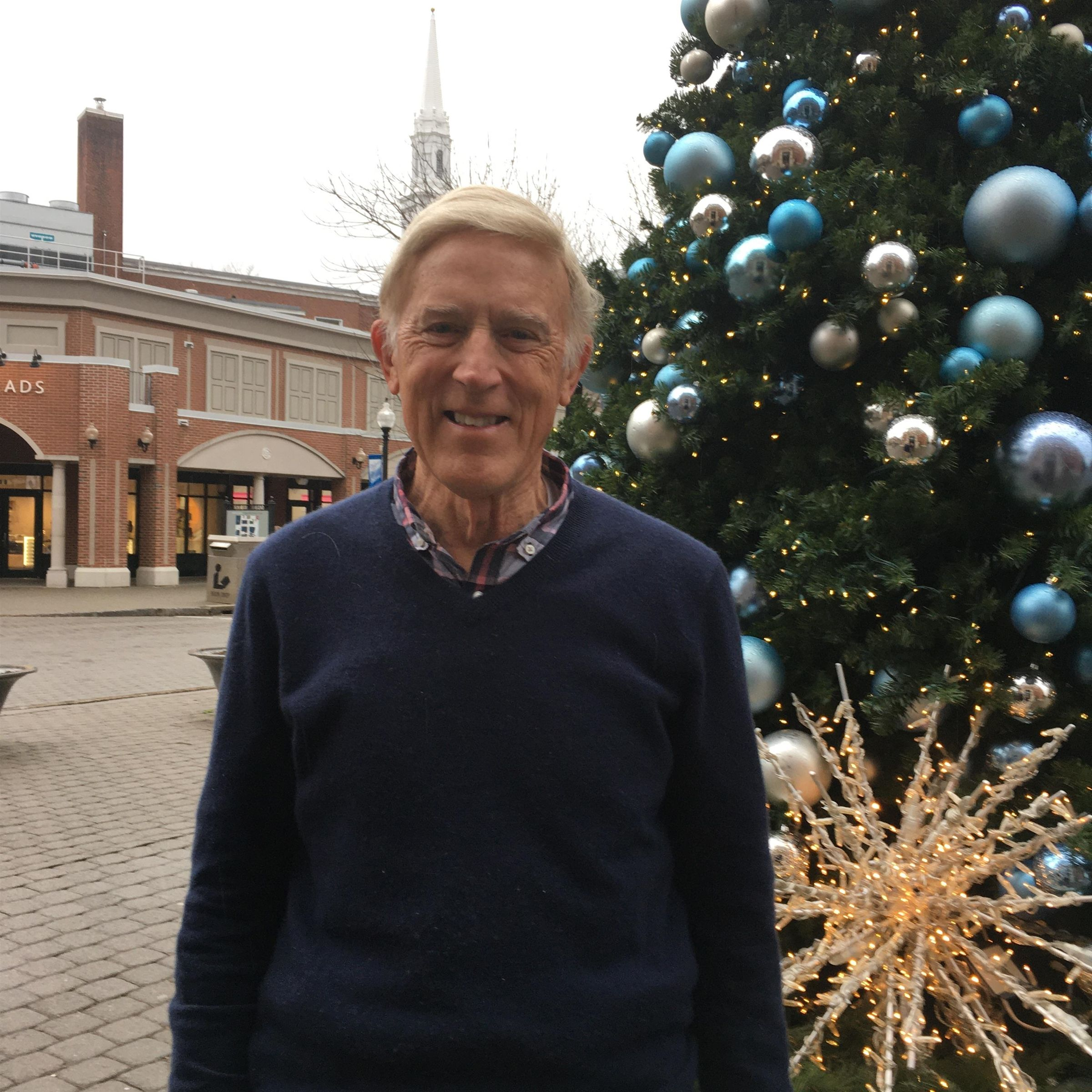 John Welch '60 in West Hartford, CT in November 2019