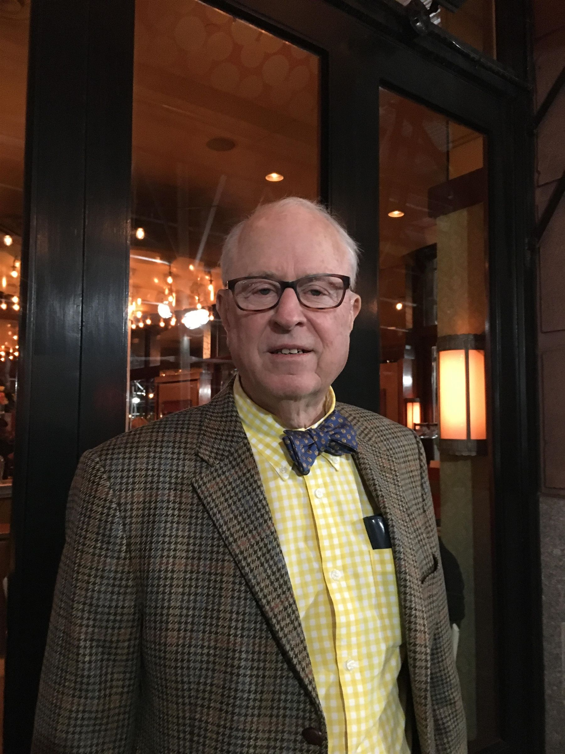 Tony Smith '53 in New York City, November 2019