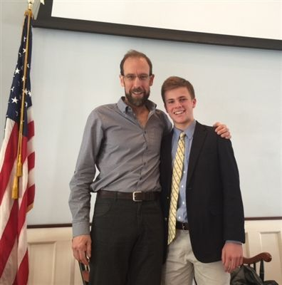 Dr. David Keith with Will McCormack '18