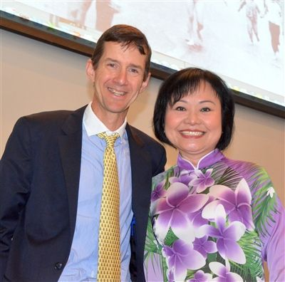 Adam Harder with Kim Phuc
