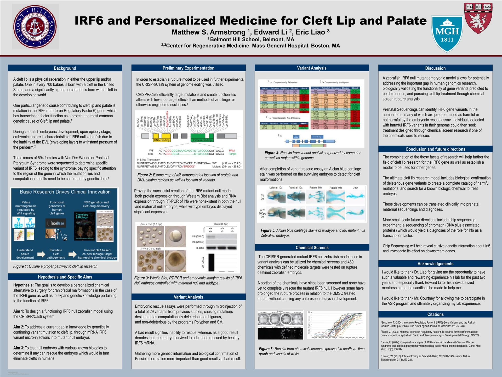 Matthew Armstrong-IRF6 and Personalized Medicine for Cleft Lip and Palate