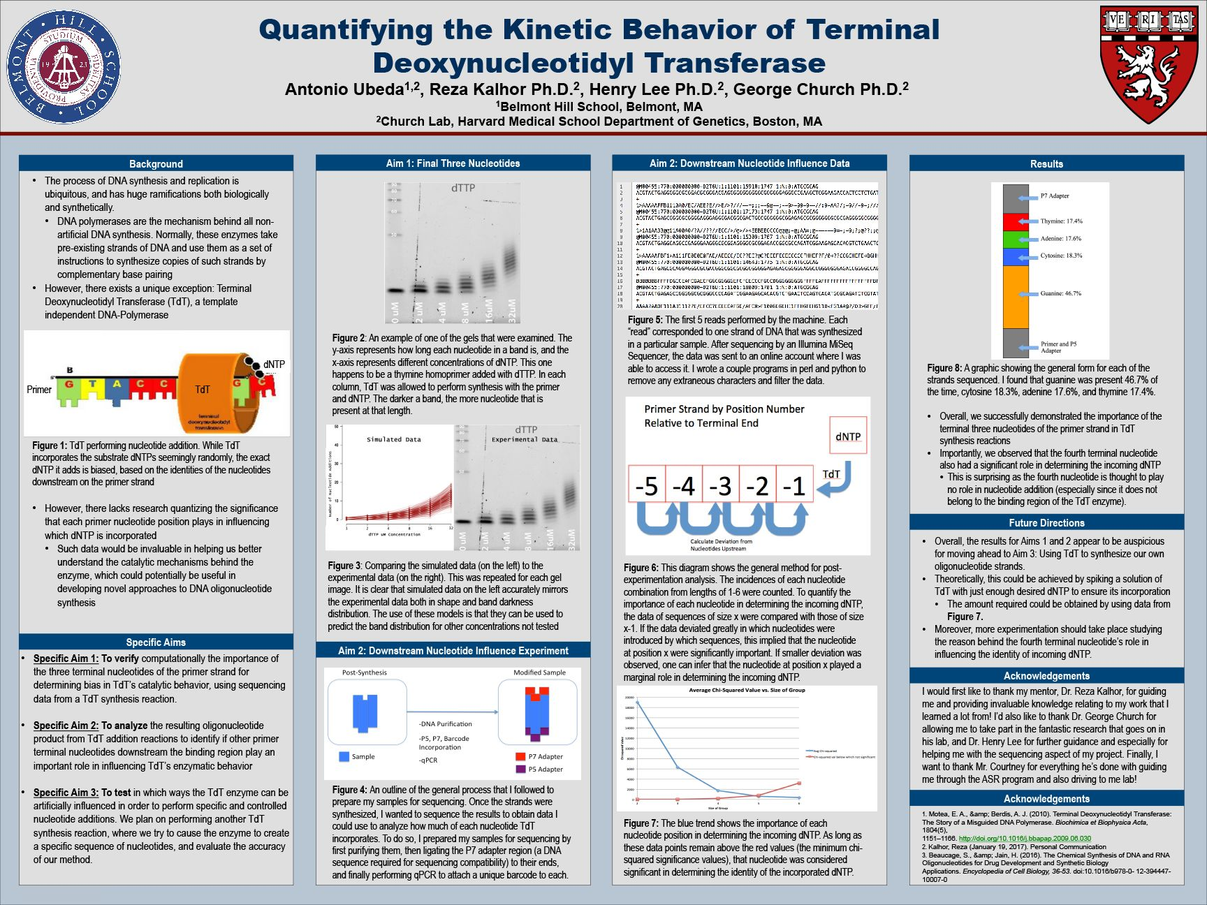 Antonio Ubeda '18 - Quantifying the Kinetic Behavior of Terminal Deoxynucleotidyl Transferase
