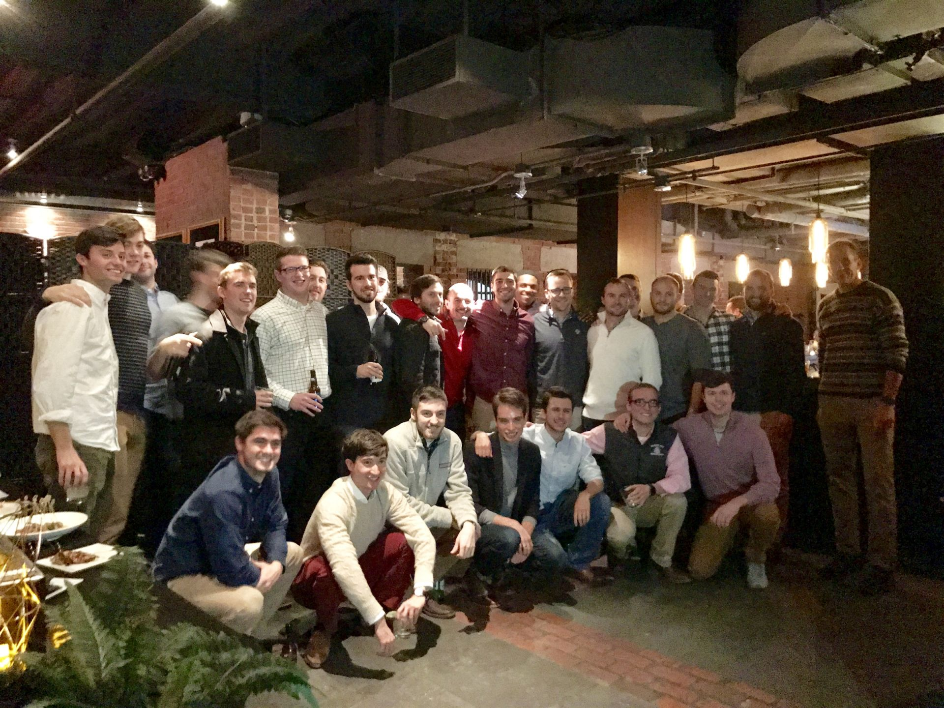 Recent Alumni Gathering at Alibi Bar & Lounge in Boston on November 23, 2018.
