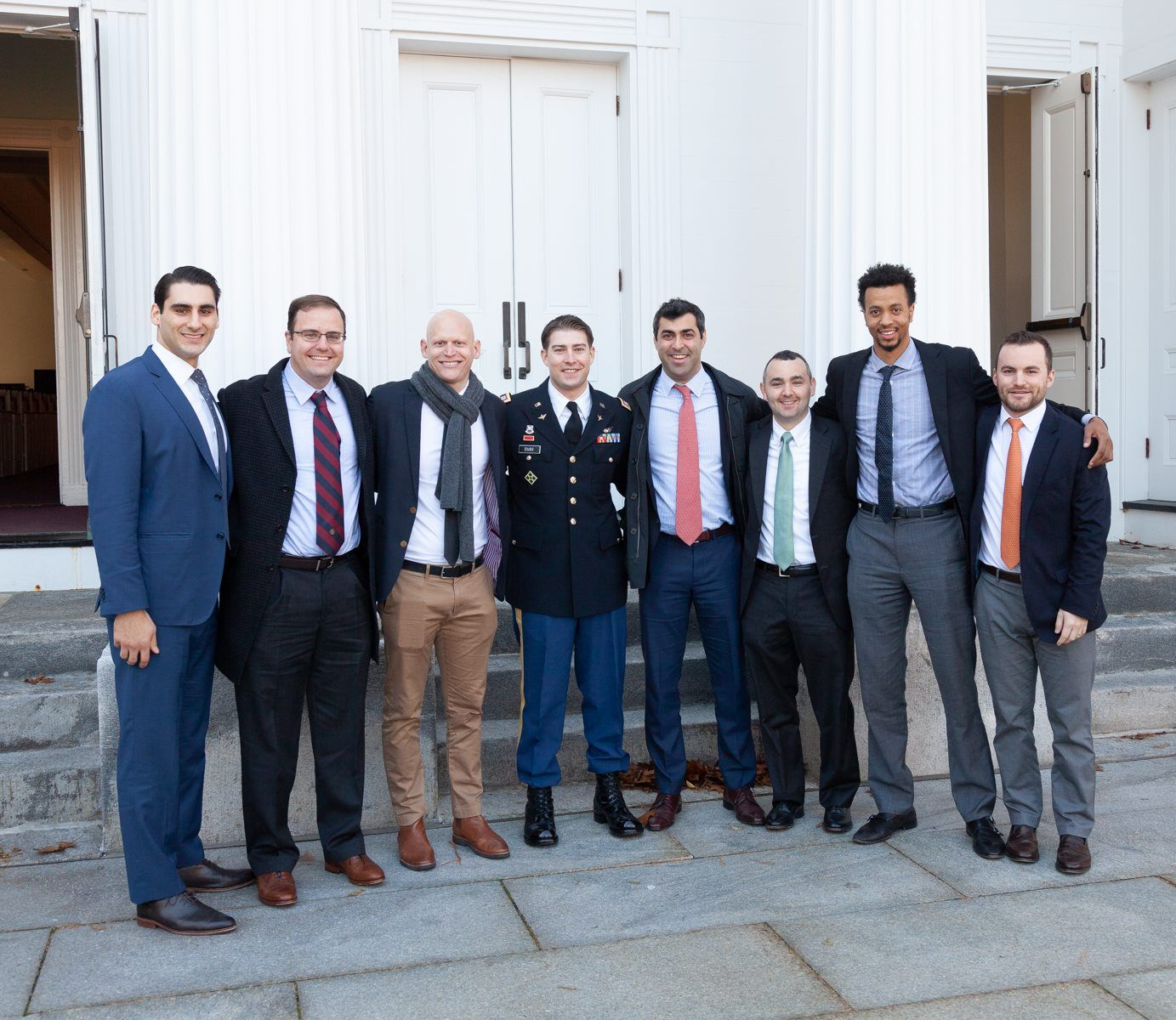 Mark Dube '07, a Westpoint graduate and U.S. Army Blackhawk pilot visits Hamilton Chapel to address the students for Veterans Day.