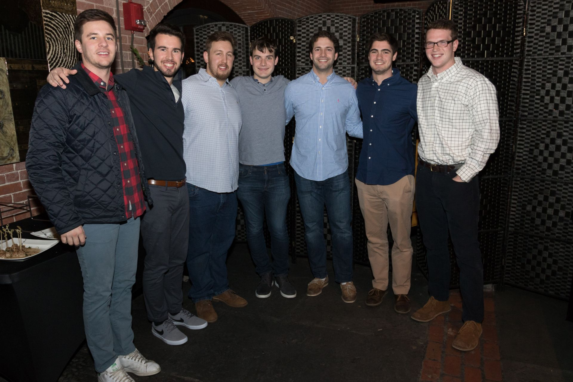 Recent Alumni Gathering at the Liberty Hotel, November 23, 2018 Colin Ward '15, Justin Grady '15, Robert Caputo '15, Chris Bracken '15, Benny Wanger '15, Evan Chaletzky '15, and Mack Rush '15.