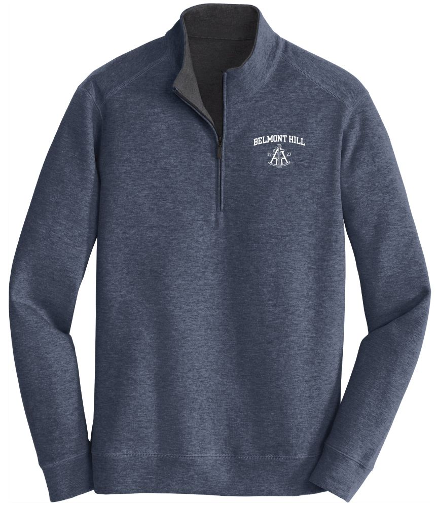 1/4 Zip Estate Blue: $40.00