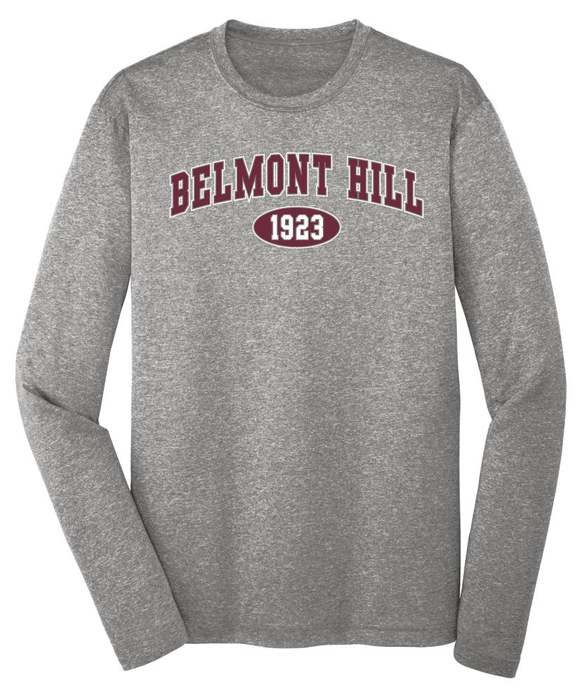 Long sleeve gray performance Tee: $17.50