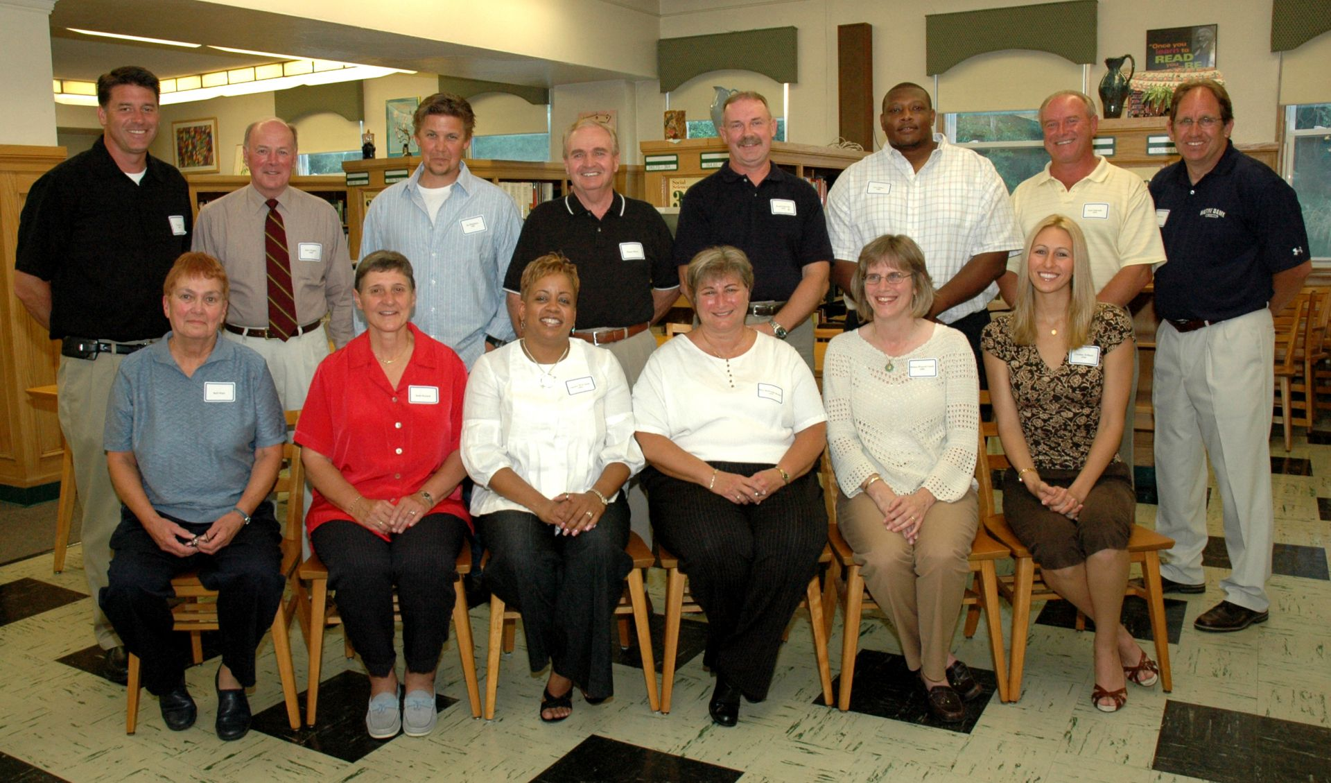 2008 Honorees                                                Front: Barb Major, Sandy Koschek, Charisse Smith, Maria Kearns, Melissa Gurick, Christine Williams Back: Tom Keefe, John Wagner, Jim Hutchison, Chappy Moore, Larry Zukowski, Jeremiah Wilson, Ron Zukowski, Mike Perone