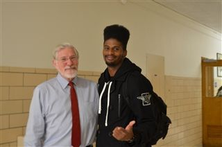 Mr. Breen Welcomes Tiquan Underwood, ND Class of 2005, wide receiver for the Tampa Bay Buccaneers.