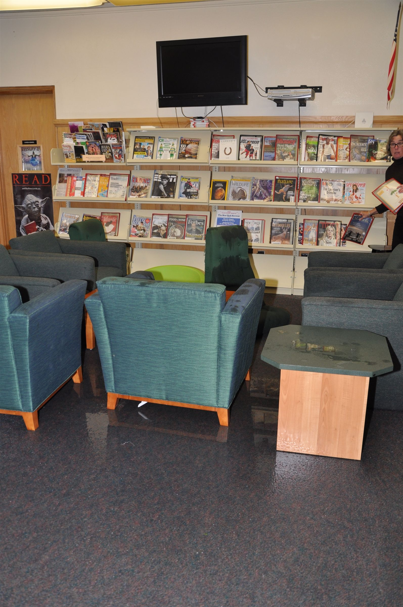 Yikes!  The flood in the library.    Read about what Nikhil Vashakanta uncovered.