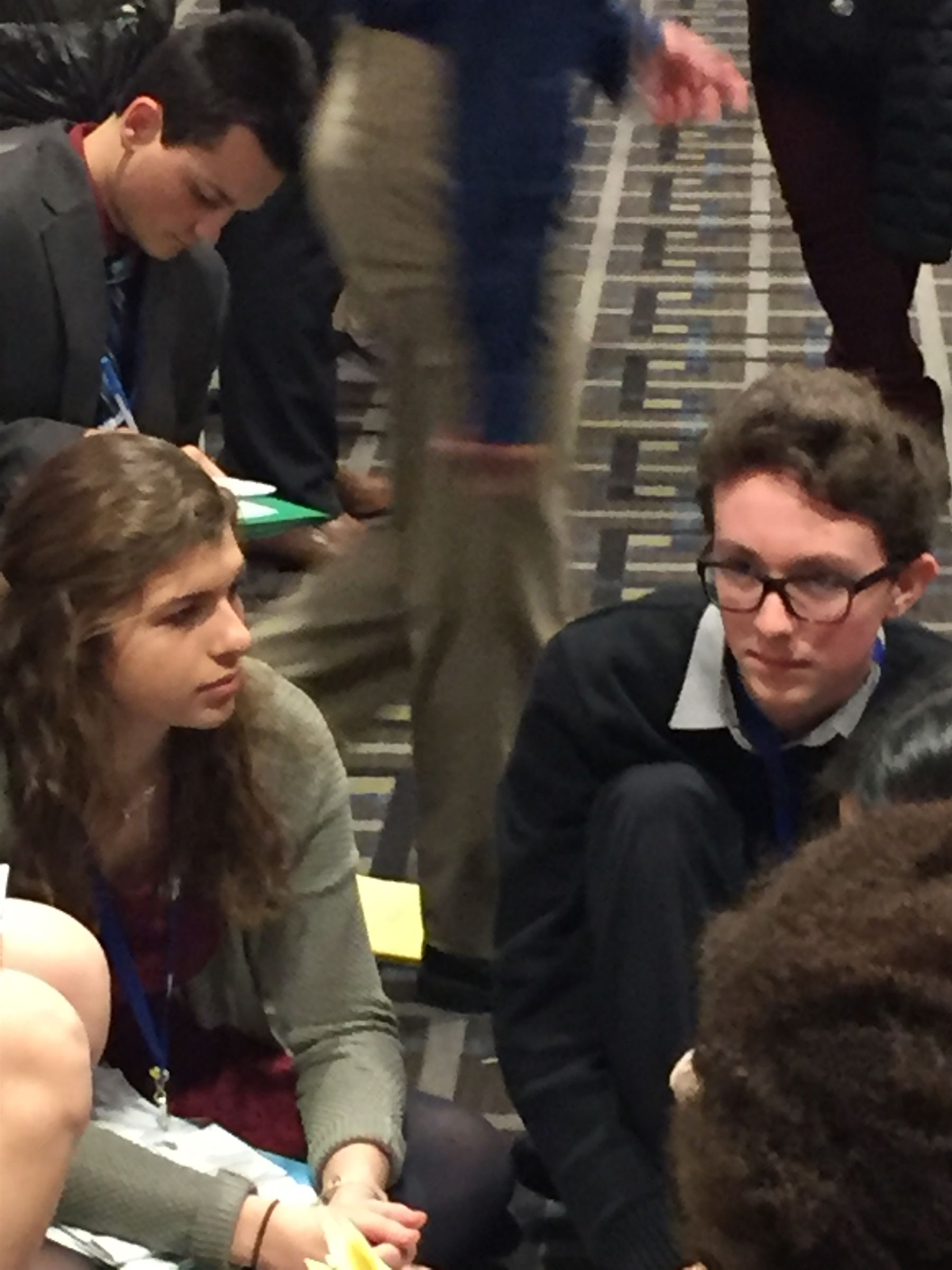 Kara Yanotta (L) and Ricky Suta (R) representing Spain in the Commission on the Status of Women at Philadelphia Model UN