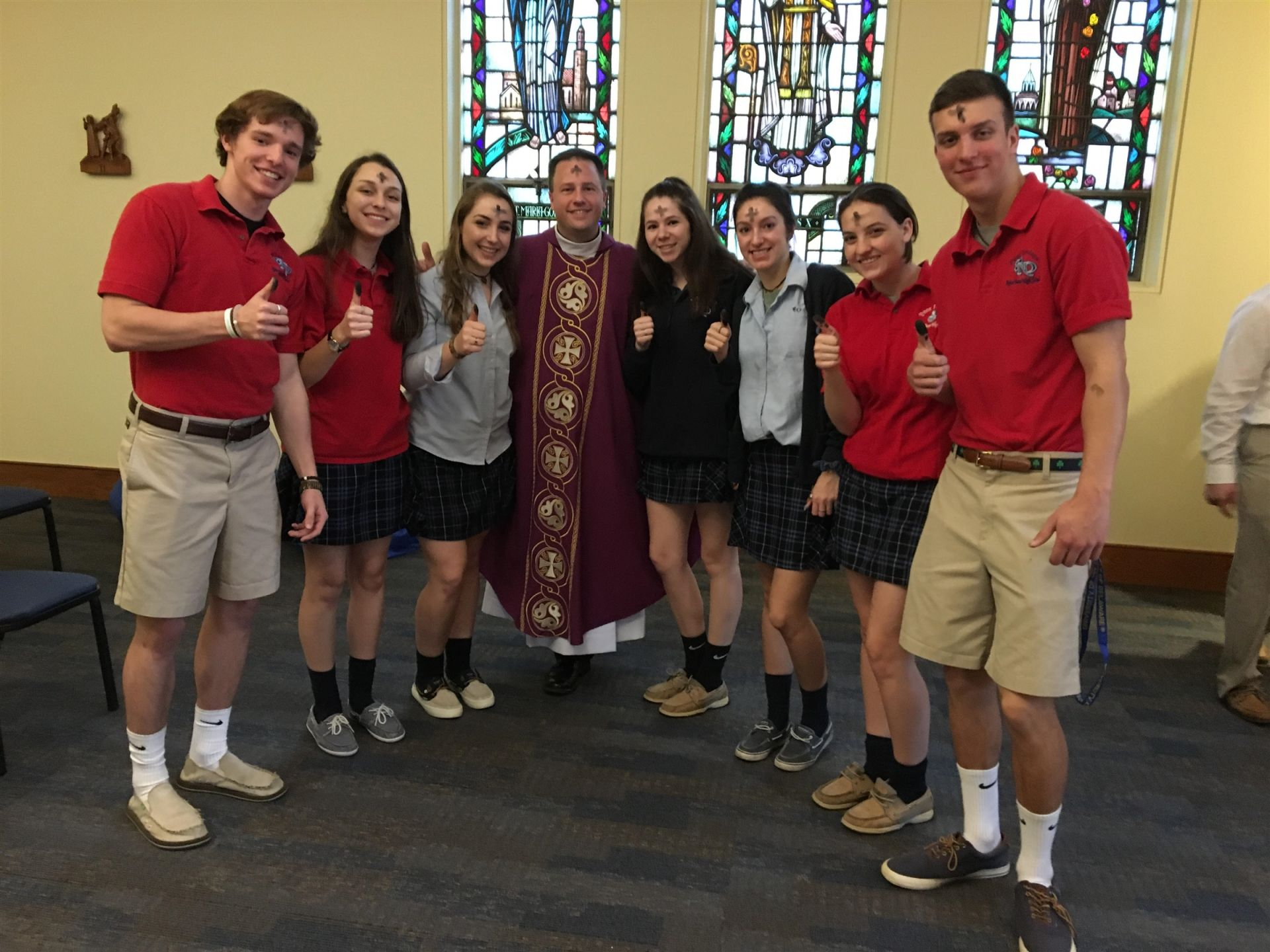 Mass was celebrated and ashes distributed on Wednesday morning during our Ash Wednesday Liturgy