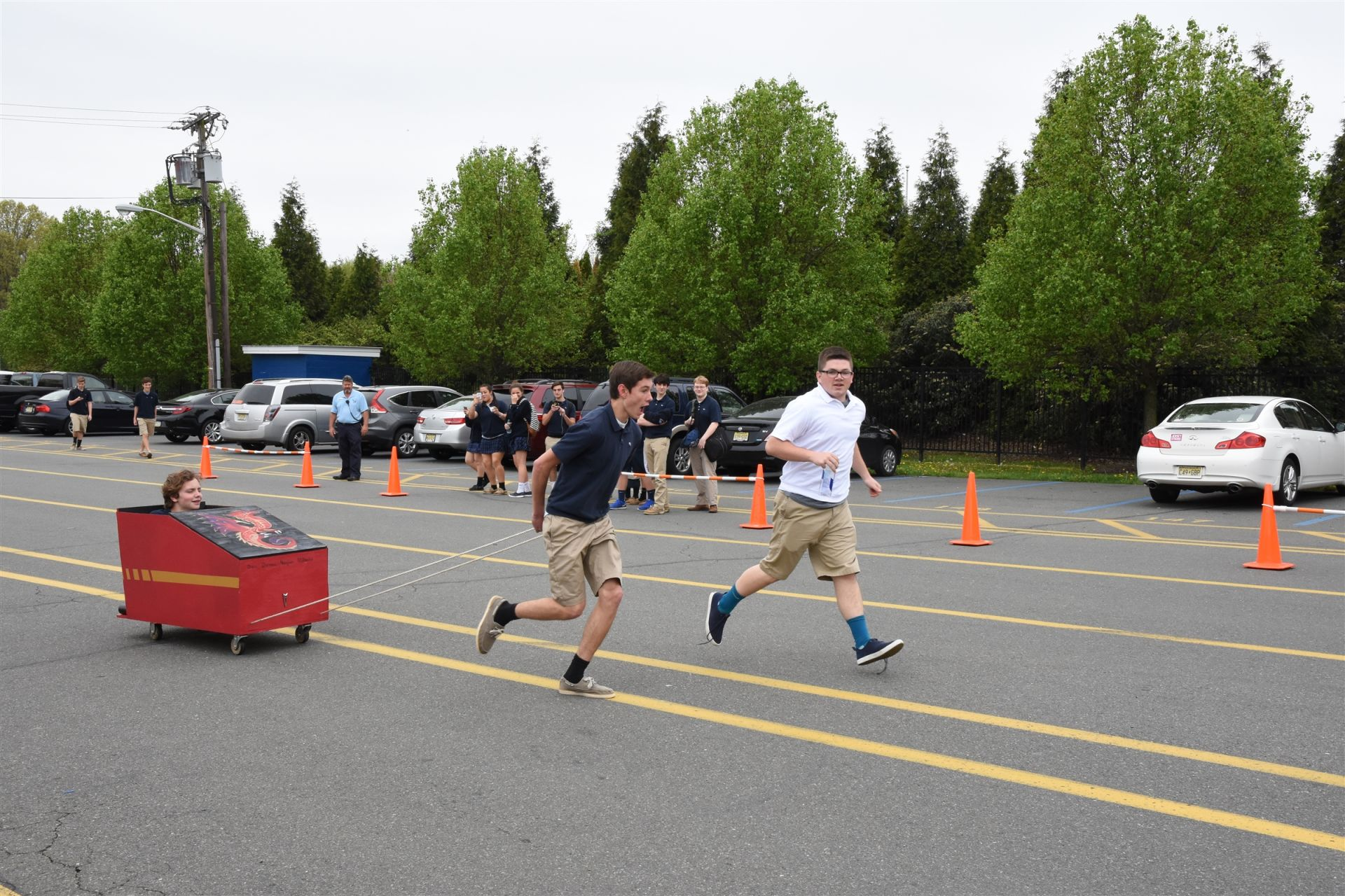 Annual Chariot Race sponsored by the Latin Club Students spent Easter Break building and designing the chariot.